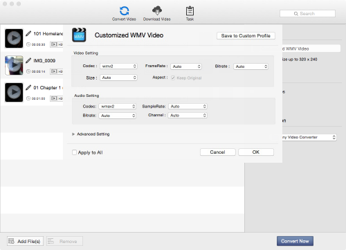 screenshot of avc free for mac