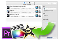 support iMovie, Final Cut Pro,etc format